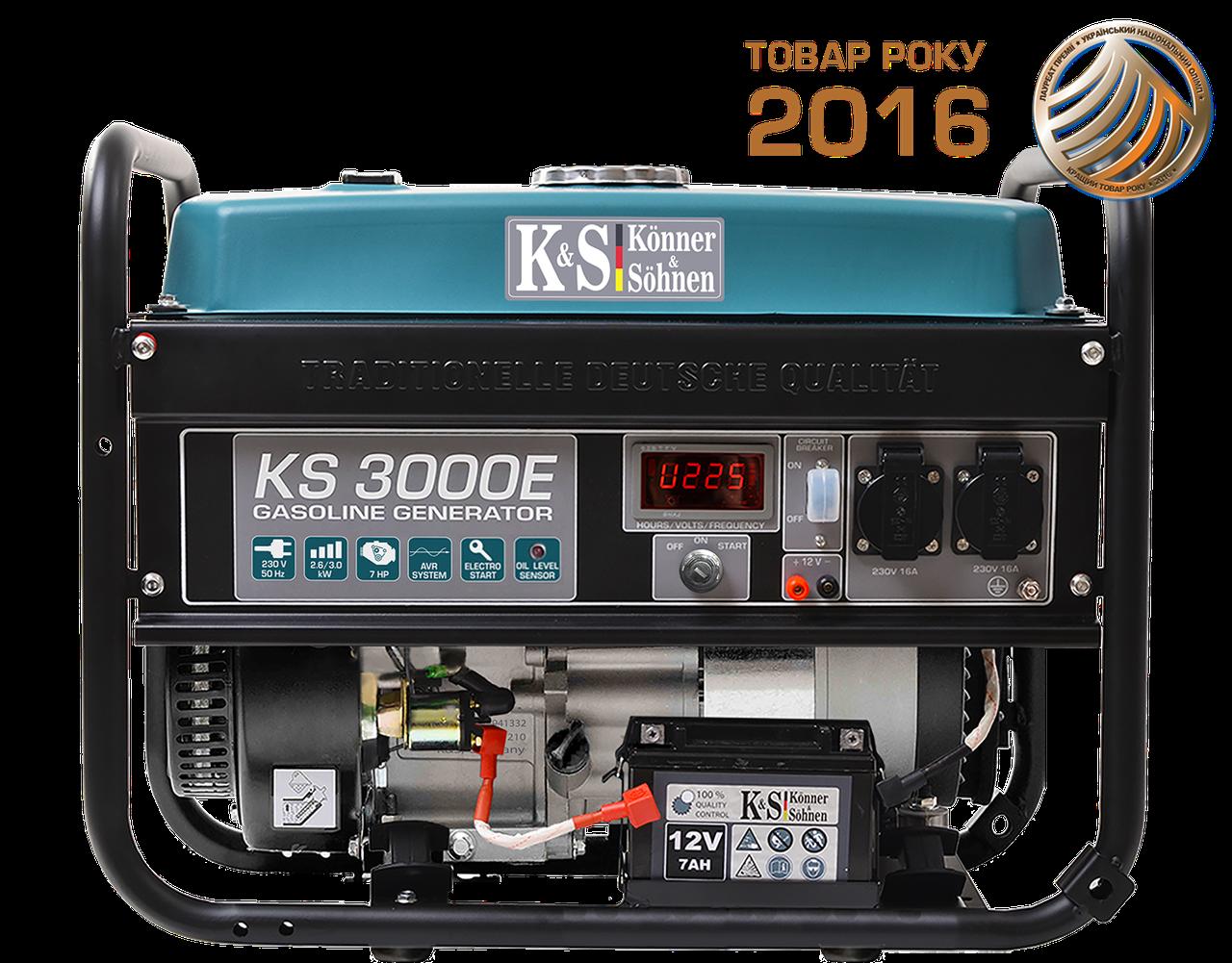 Бензиновый генератор Konner & Sohnen KS 3000E