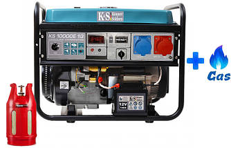 Двухтопливный генератор Konner&Sohnen KS 10000E-1/3 LPG