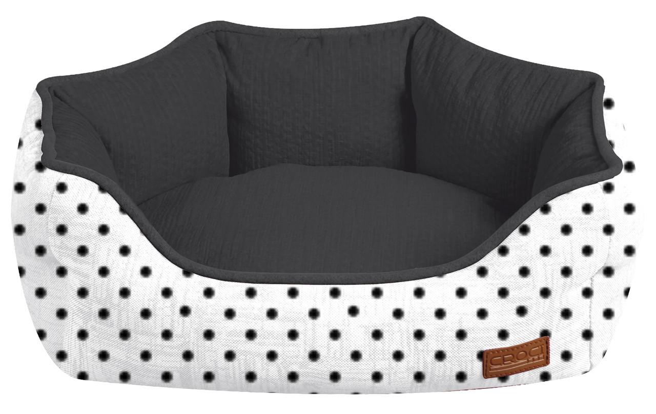Лежанка для собак Croci COZY IMPACT 50*40*17 см (черно-белая)