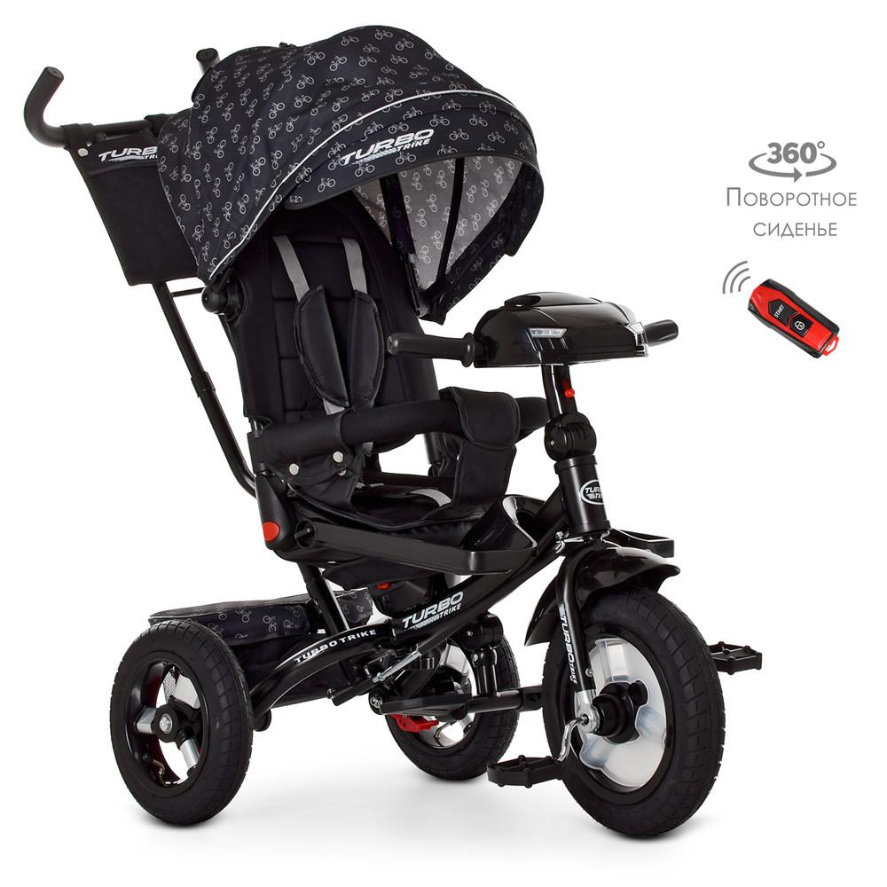Велосипед детский трехколесный Turbo Trike с родительской ручкой M 4060HA-22V