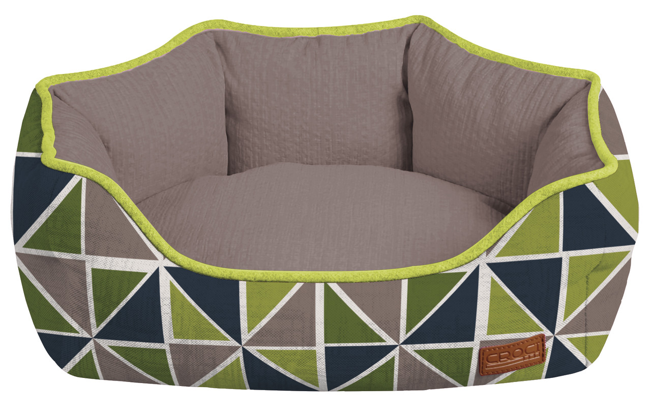 Лежанка для собак Croci COZY RAY 40*32*16 см (серо-зеленая)