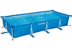 Бассейн каркасный прямоугольный Intex 28273, 450х220х84 см Blue