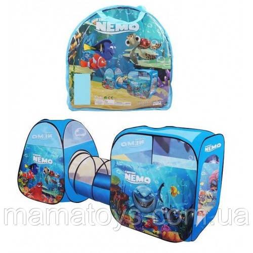 Детская Палатка с туннелем Немо Рыбки 8015 NM размер 270 х92 х92 см, в сумке