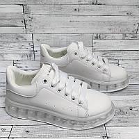 Женские кроссовки на прозрачной подошве
