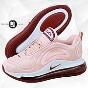 Женские кроссовки в стиле Nike Air Max 720 Pink/Burgundy