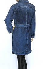 Жіночий джинсовий плащ, фото 2