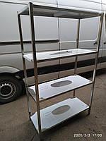 Стеллаж из нержавейки производственный 1100х500х1800 - 3.284 грн.