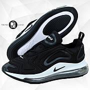 Мужские кроссовки в стиле Nike Air Max 720 Black/White