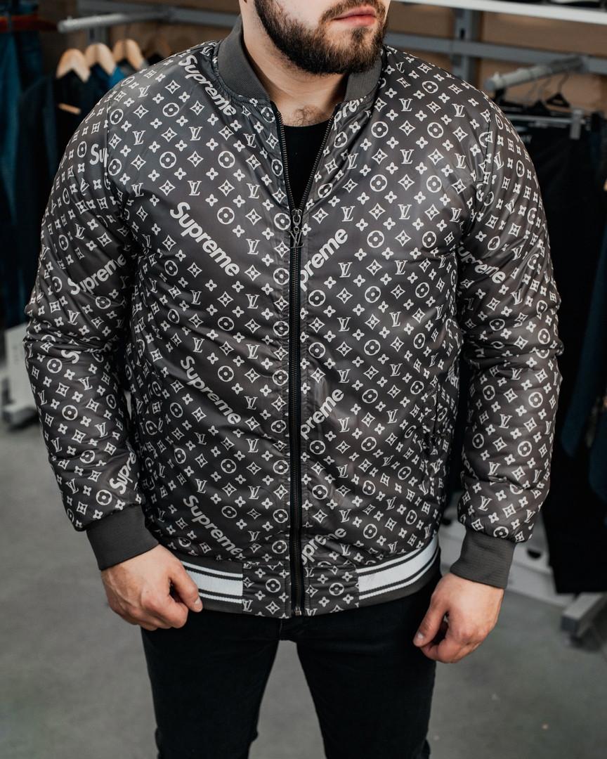 Бомбер куртка Чоловічий Supreme, Black