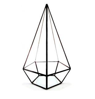 Флорариум для цветов Пирамида пятигранная 280х130