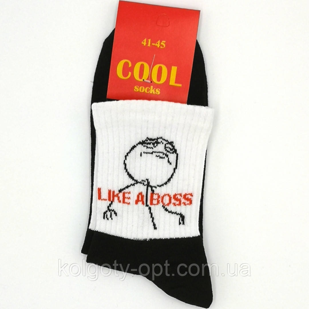 Длинные носки с принтом 41-45