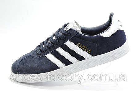 Мужские кроссовки в стиле Adidas Gazelle, Dark Blue\White, фото 2