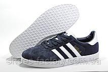 Мужские кроссовки в стиле Adidas Gazelle, Dark Blue\White, фото 3