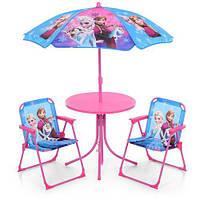 Столик детский с зонтиком и 2 мя стульчиками Bambi (Frozen)