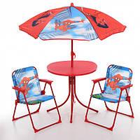 Столик детский с зонтиком и 2 мя стульчиками Bambi (Spider-Man)