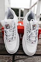 Кроссовки мужские весенние осенние качественные модные Fila Disruptor 2 White, фото 1