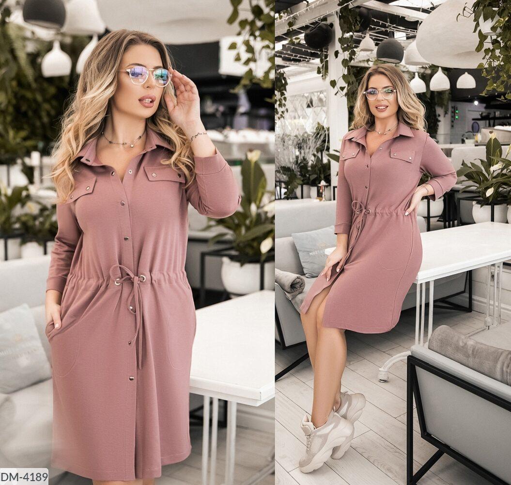Стильное  платье  (размеры 52-58) 0234-03