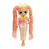 L.O.L. Surprise O.M.G Lights Dazzle ЛОЛ ОМГ Дэзли Неоновая кукла, фото 1