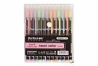 Набор гелевых ручек 1мм пастельных цветов 12шт