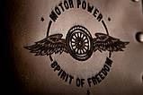 Чоловічий шкіряний гаманець ТатуНаКоже, POWER MOTOR, фото 2