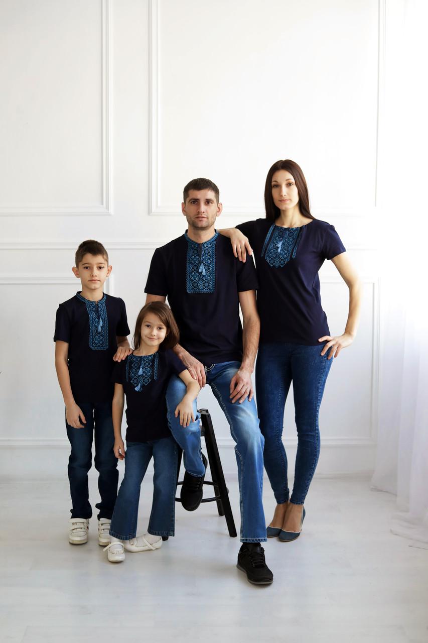 Сімейний комплект вишитих футболок S-3