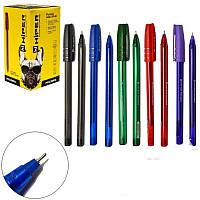 Ручка масляна Hiper Accord HO-500 0,7 мм зелена корпус зелений