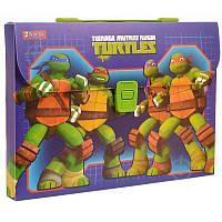 Тека-портфель А4 пластикова 1 ВЕРЕСНЯ Ninja Turtles