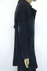 Джинсовий жіночий плащ, фото 2