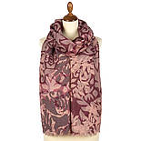 Палантин шерстяной 10396-15, павлопосадский шарф-палантин шерстяной (разреженная шерсть) с осыпкой, фото 5