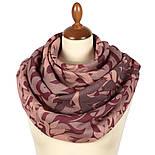 Палантин шерстяной 10396-15, павлопосадский шарф-палантин шерстяной (разреженная шерсть) с осыпкой, фото 3