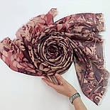 Палантин шерстяной 10396-15, павлопосадский шарф-палантин шерстяной (разреженная шерсть) с осыпкой, фото 7