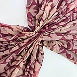 Палантин шерстяной 10396-15, павлопосадский шарф-палантин шерстяной (разреженная шерсть) с осыпкой, фото 6