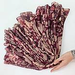 Палантин шерстяной 10396-15, павлопосадский шарф-палантин шерстяной (разреженная шерсть) с осыпкой, фото 8
