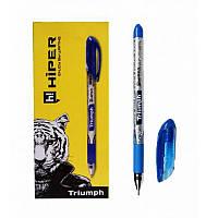 Ручка масляна Hiper Triumph HO-195 0,7 мм синя корпус сірий