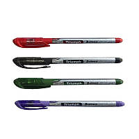 Ручка масляна Hiper Triumph HO-195 0,7 мм чорна корпус сірий