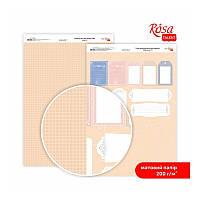 """Бумага дизайнерская двусторонний матовый """"Мереживо"""" 8, 21х29,7 см, 200 г/м2, ROSA TALENT"""