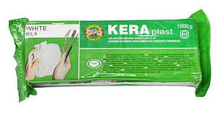 Пластилин Keraplast Koh-i-noor 1000гр белый
