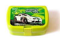 Ланчбокс з вставкою для 2х бутербродів+ложка та виделка Kidis Sport Car