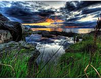 """Алмазная мозаика """"Вечернее небо"""", картина стразами 25*30см"""