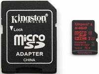 Карта памяти microSDXC 64GB Kingston Class 10 UHS-I U3 + SD-adapter (SDCA3 / 64GB)