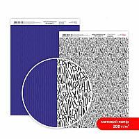 "Бумага дизайнерская двусторонний матовый ""Be in color""2 1, 21х29,7 см, 200 г/м2, ROSA TALENT"
