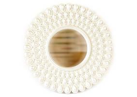 Дзеркало кругле 25*25 см у фігурній рамці, рустик срібло,  дзеркало 11 см ООПТ