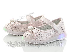 Дитяче взуття 2020 з підсвічуванням оптом. Дитячі туфлі бренду ОВТ для дівчаток (рр. з 21 по 26)