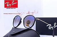 Солнцезащитные женские очки в стиле RAY BAN (2447) blue, фото 1