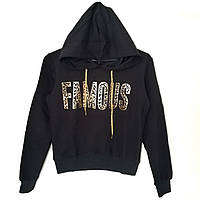 """Укороченный свитшот с капюшоном """" Famous"""" - ОПТОМ !!!, фото 1"""