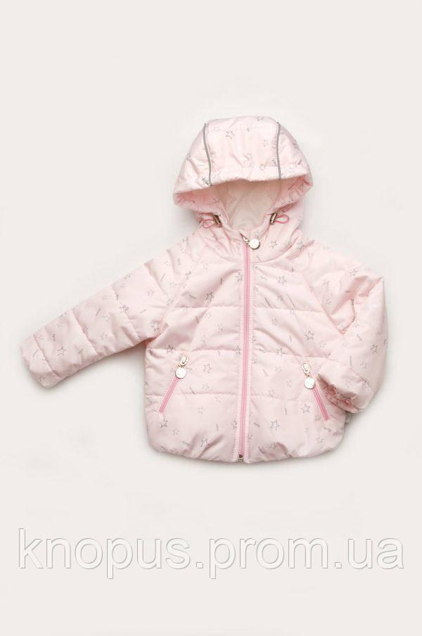 Демисезонная куртка для маленькой девочки, размер 68-86, Модный карапуз
