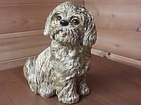 Садовая фигура. Собака. Ши-цу сидит.