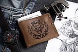 Чоловічий шкіряний гаманець ТатуНаКоже, Левине серце, фото 5