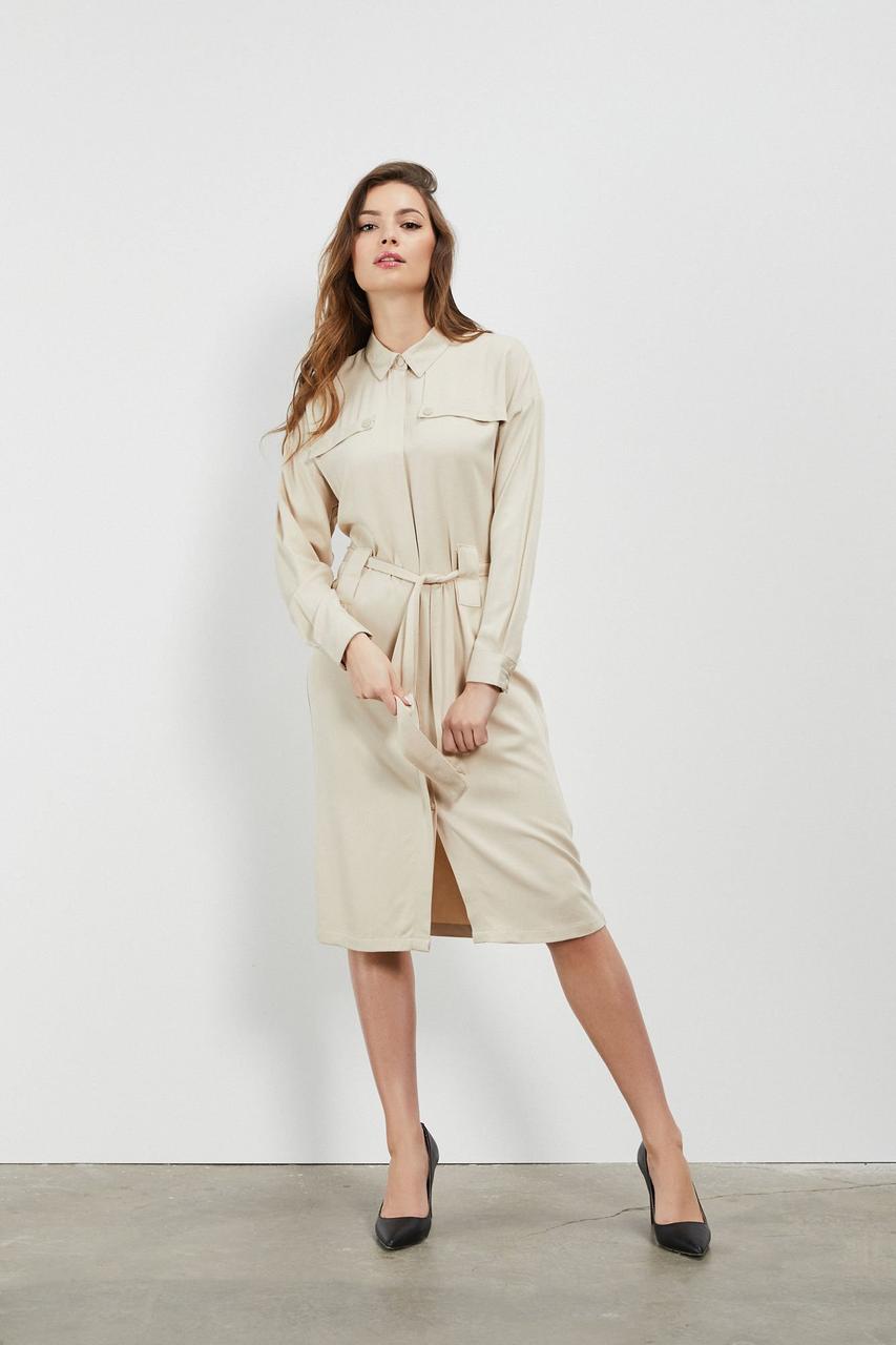 Платье женское MOODO L-SU-3106 BEIGE