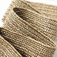 Эластичный плетеный пояс с деревянной пряжкой для женщин - Коричневый, фото 9